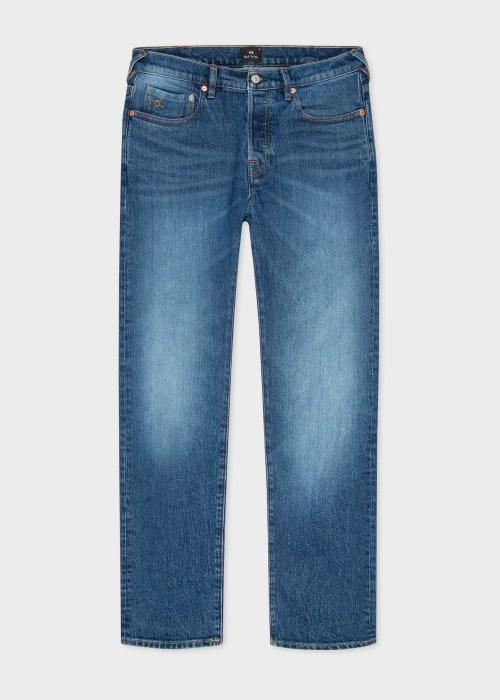 폴 스미스 Paul Smith Mens Slim-Standard Organic Western Twill Jeans