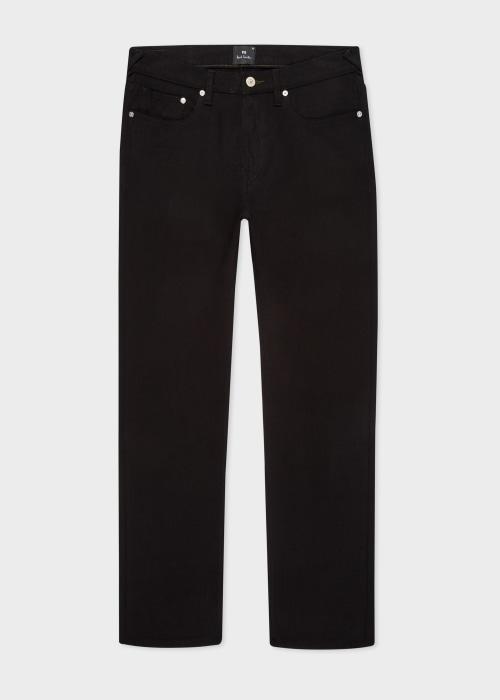 폴 스미스 Paul Smith Mens Tapered-Fit Black Stretch Jeans