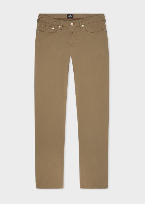 폴 스미스 Paul Smith Mens Tapered-Fit Camel Garment-Dye Jeans