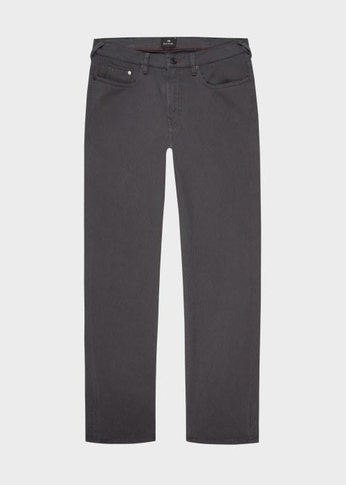 폴 스미스 Paul Smith Mens Tapered-Fit Grey Garment-Dye Jeans