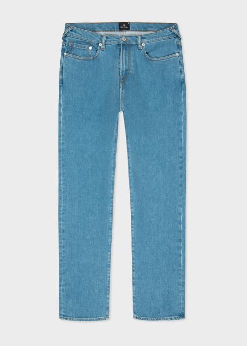 폴 스미스 Paul Smith Mens Tapered-Fit Light-Wash Soft Stretch Jeans