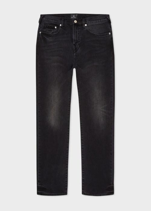 폴 스미스 Paul Smith Mens Tapered-Fit Black Stretch Mid-Wash Jeans