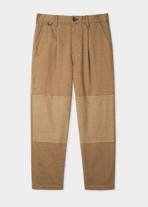 폴 스미스 Paul Smith Mens Tan Panelled Carpenter Trousers