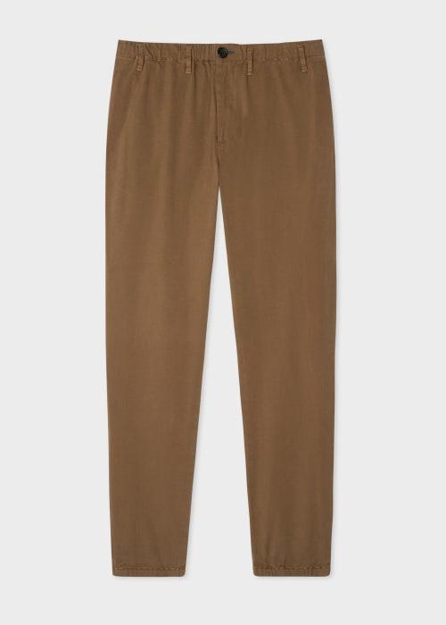 폴 스미스 Paul Smith Mens Tan Stretch-Cotton Twill Trousers