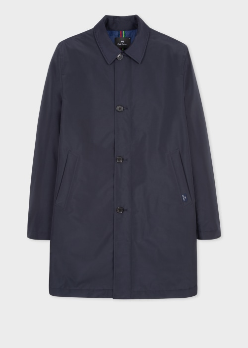 폴 스미스 Paul Smith Mens Dark Navy Recycled-Polyester Wadded Mac