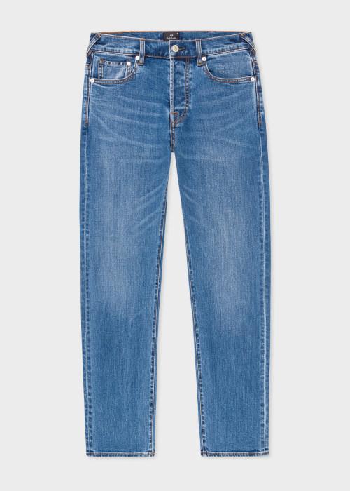 폴 스미스 Paul Smith Mens Standard-Fit Organic Inky Blue Jeans