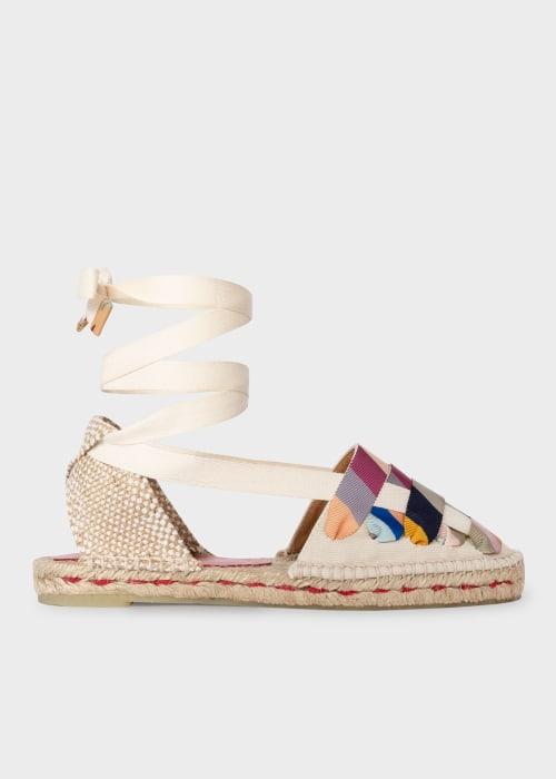 폴 스미스 X 까스따네르 콜라보 에스파드류 샌들 Castañer X Paul Smith - Cream Jean Espadrille Sandals