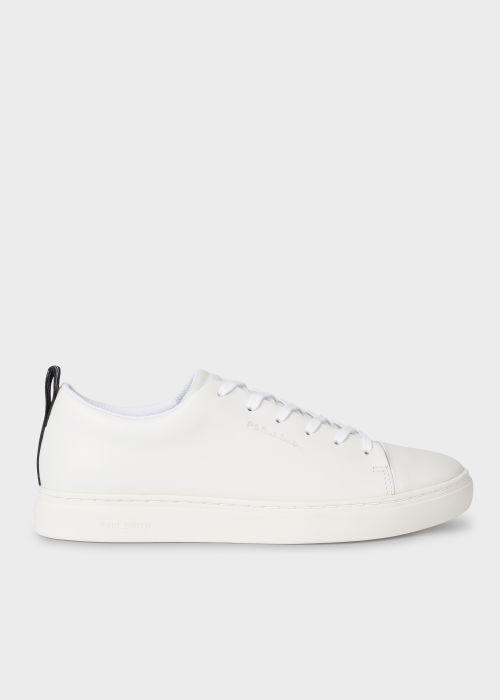 White Leather 'Lee' Trainers - Paul Smith