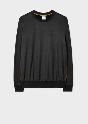 폴 스미스 Paul Smith Mens Dark Grey Artist Stripe Wool Sweatshirt