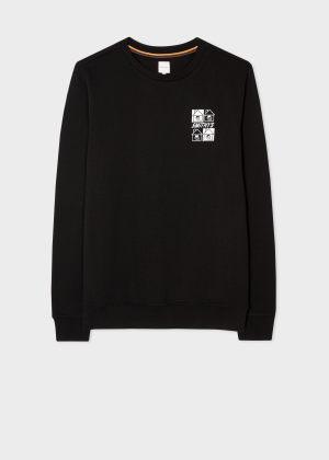 폴 스미스 Paul Smith Mens Smithys House Print Sweatshirt