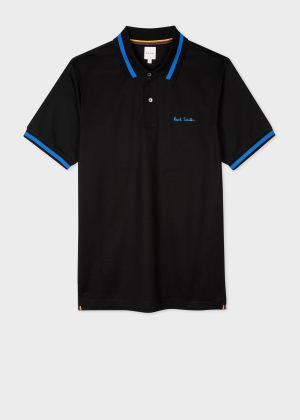 폴 스미스 Paul Smith Mens Black Signature Polo Shirt