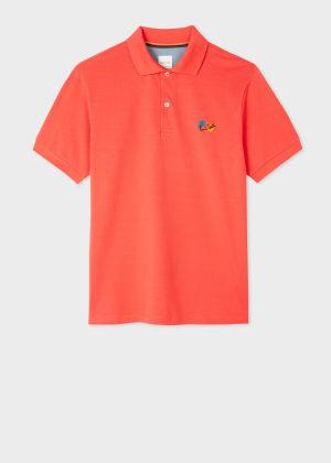 폴 스미스 Paul Smith Mens Coral Paint Splatter Cotton Polo Shirt