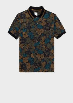 폴 스미스 Paul Smith Mens Archive Floral Print Polo Shirt