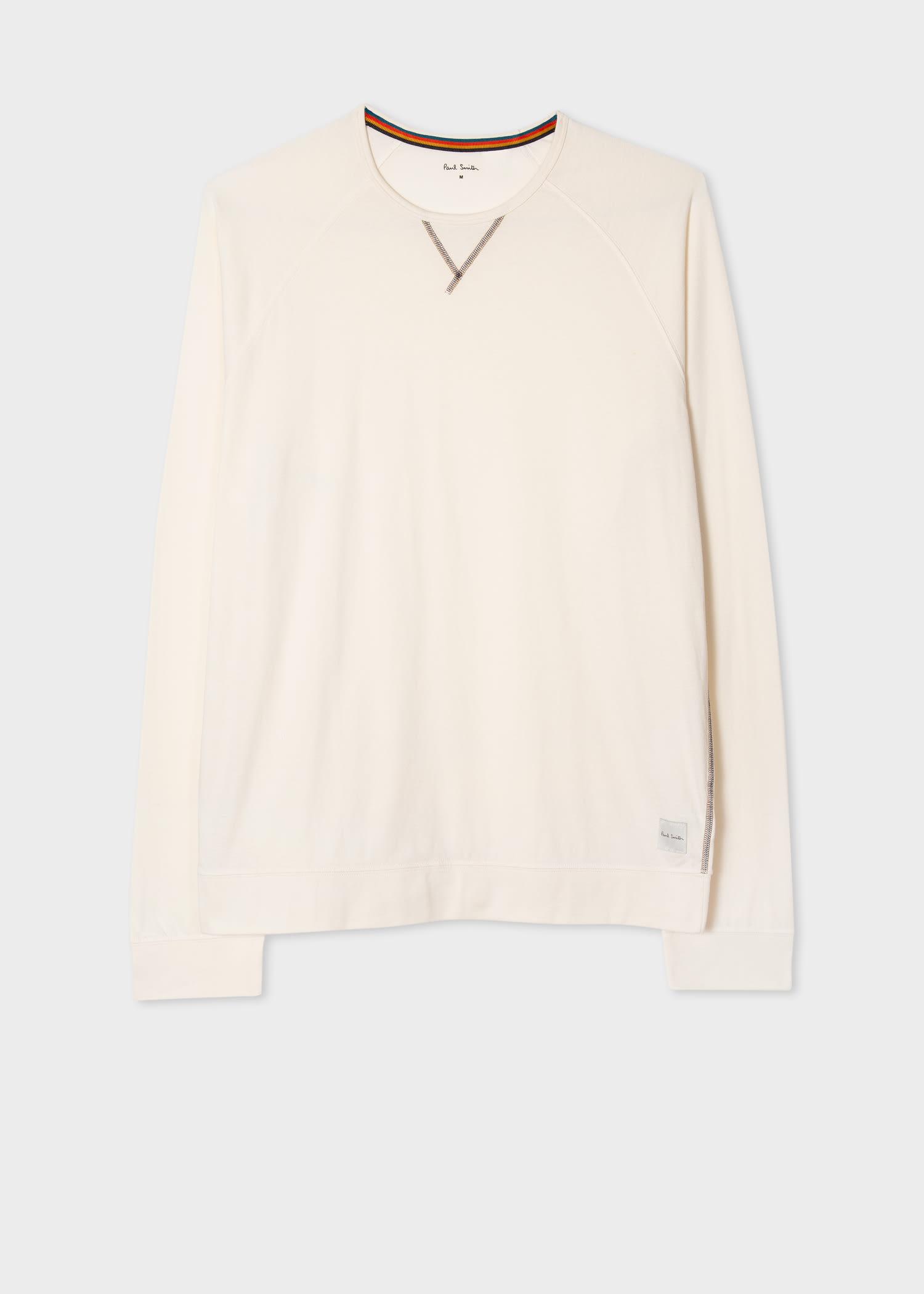 폴 스미스 티셔츠  Paul Smith Mens Ecru Jersey Cotton Long-Sleeve Top