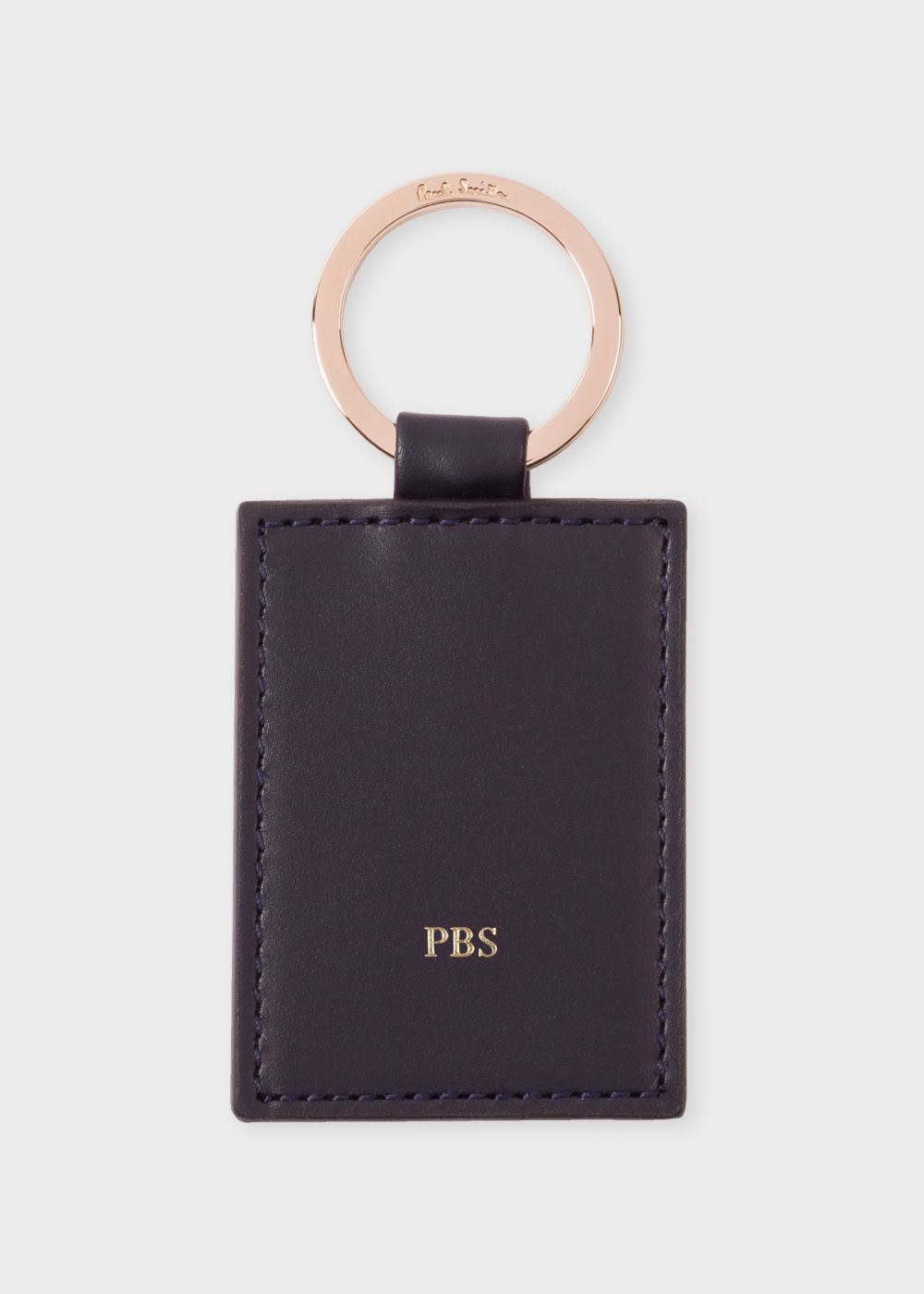폴 스미스 키링 Paul Smith Navy Calf Leather Monogrammed Keyring