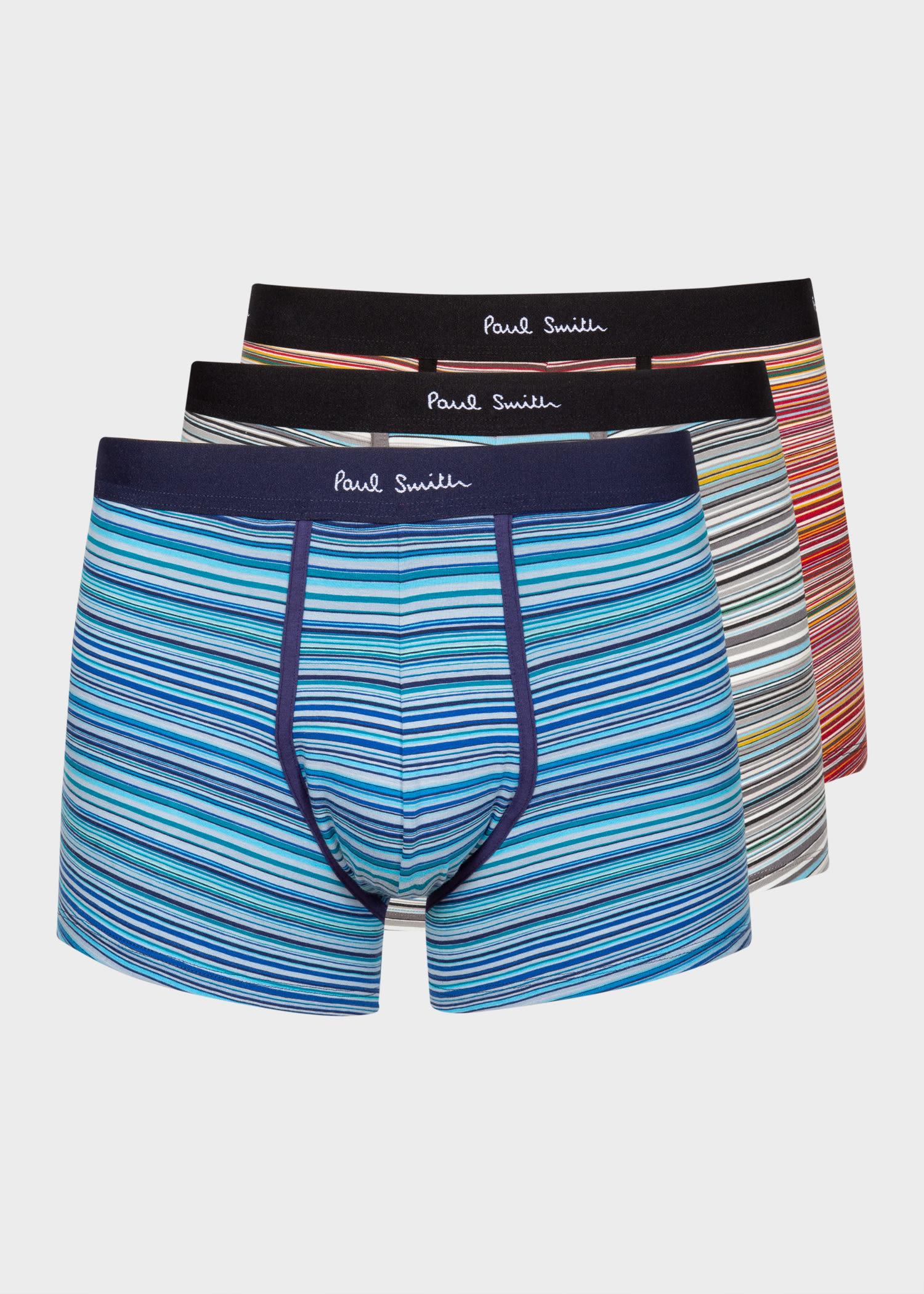 폴 스미스 언더웨어 - 3팩 Paul Smith Mens Signature Stripe Long Boxer Briefs Three Pack