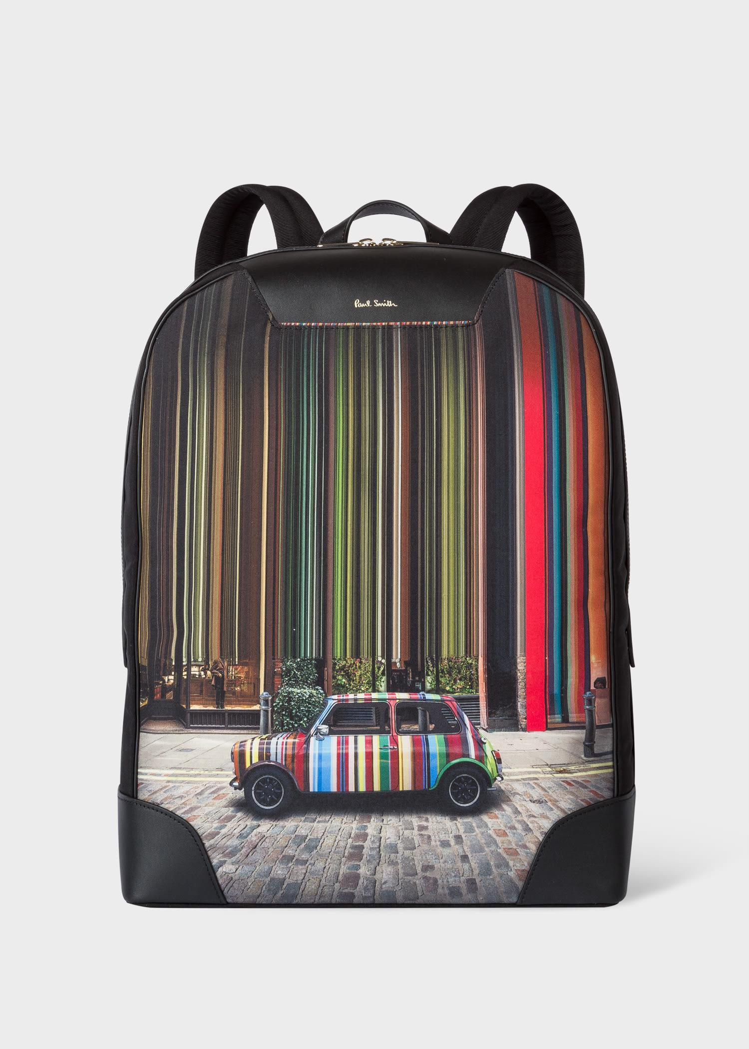 폴 스미스 백팩 Paul Smith Mini Covent Garden Print Canvas Backpack