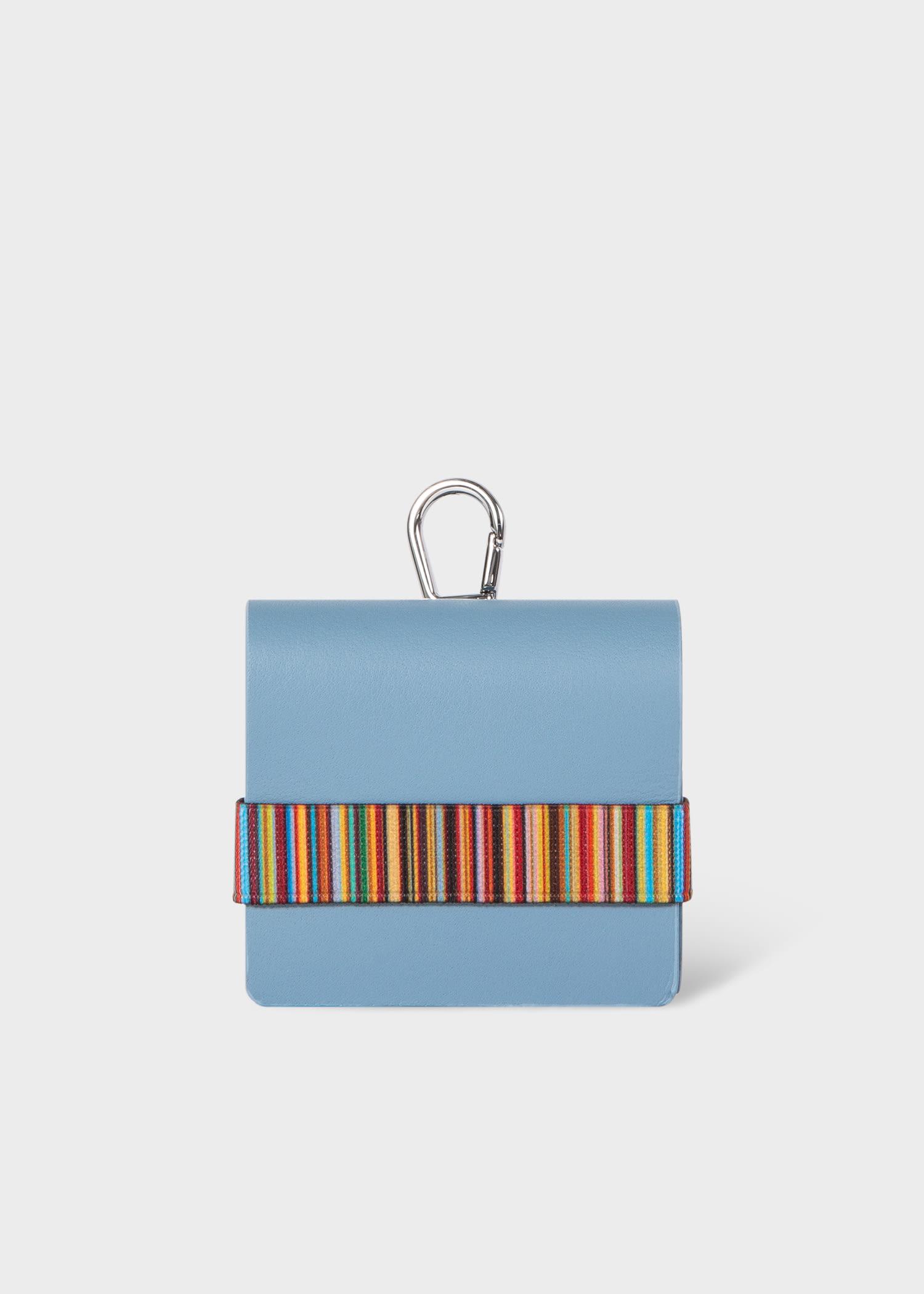 폴 스미스 에어팟 프로 케이스 Paul Smith Powder Blue Leather Signature Stripe AirPod Pro Case