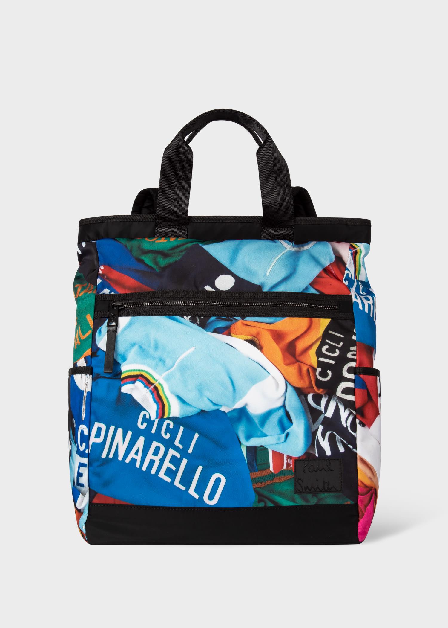 폴 스미스 백팩 Paul Smith Mens Cycle Jersey Canvas Convertible Backpack
