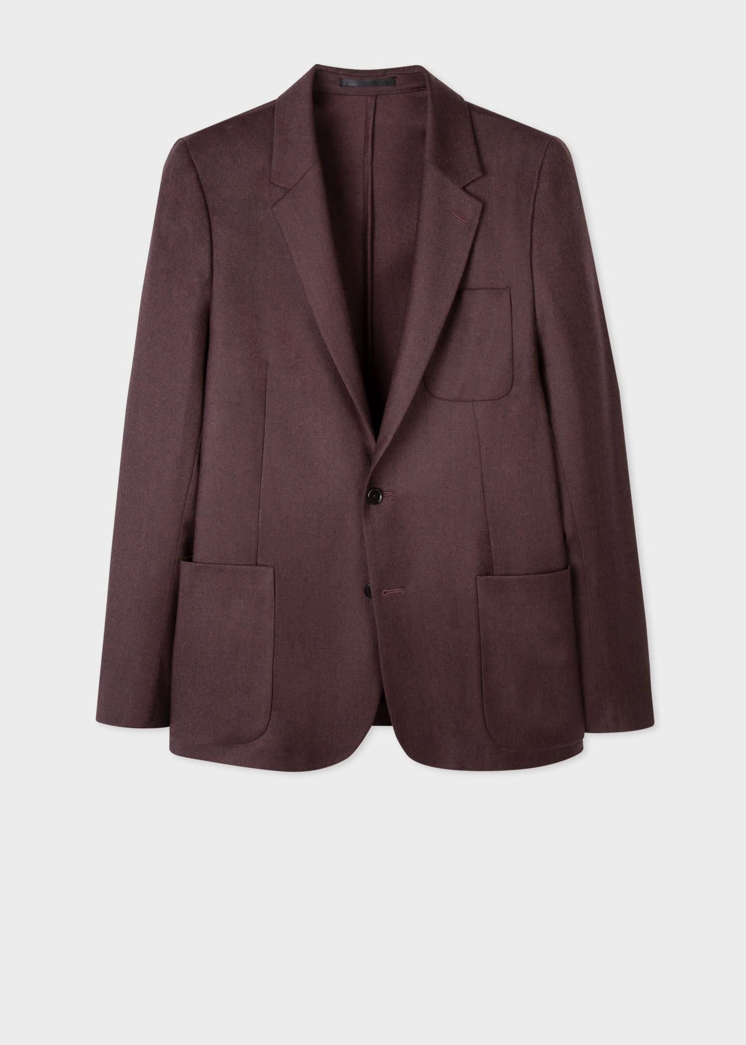 폴 스미스 블레이저 Paul Smith Mens Damson Wool-Cashmere Patch-Pocket Unlined Blazer