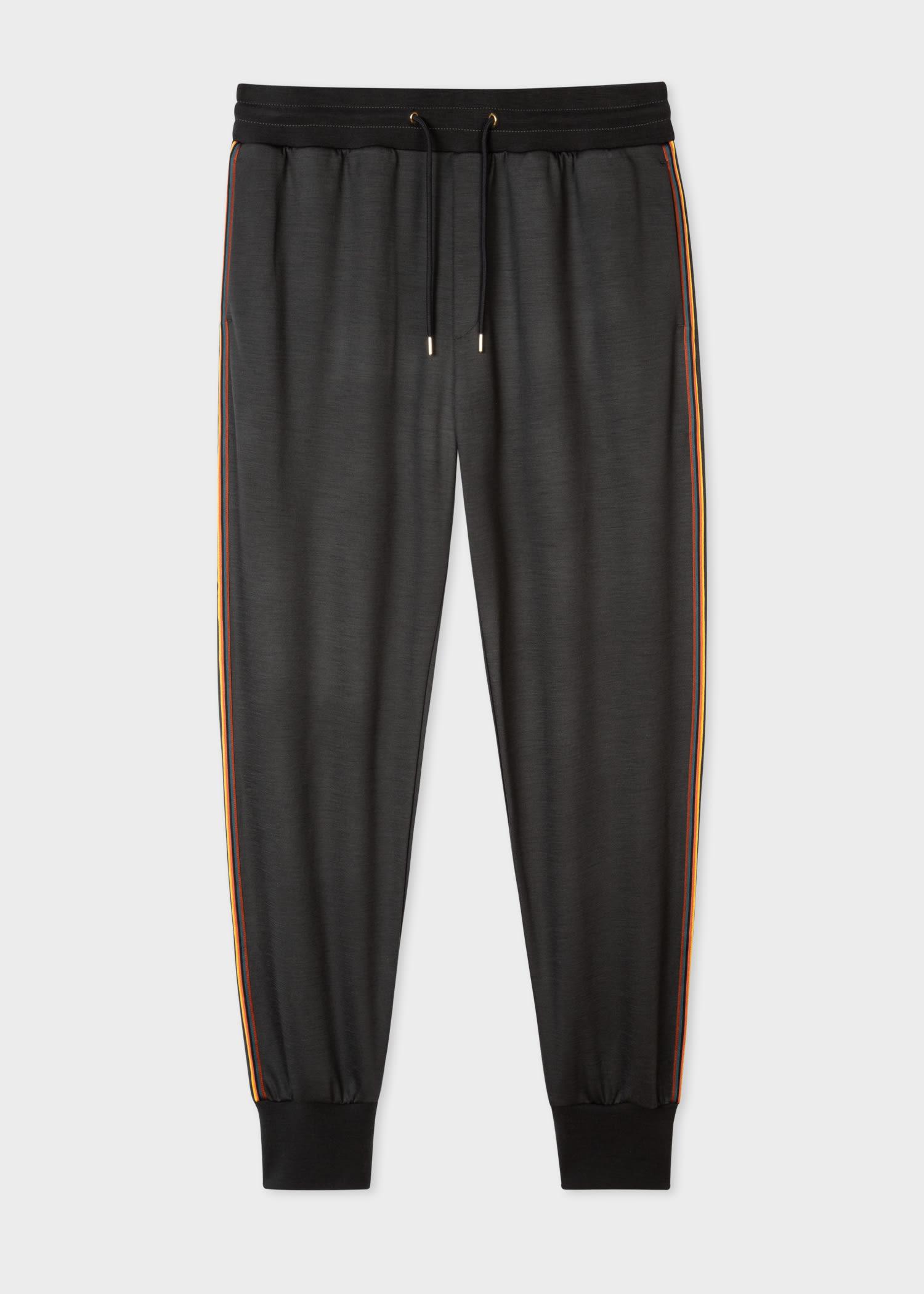 폴 스미스 스웻팬츠 Paul Smith Mens Dark Grey Artist Stripe Wool Sweatpants
