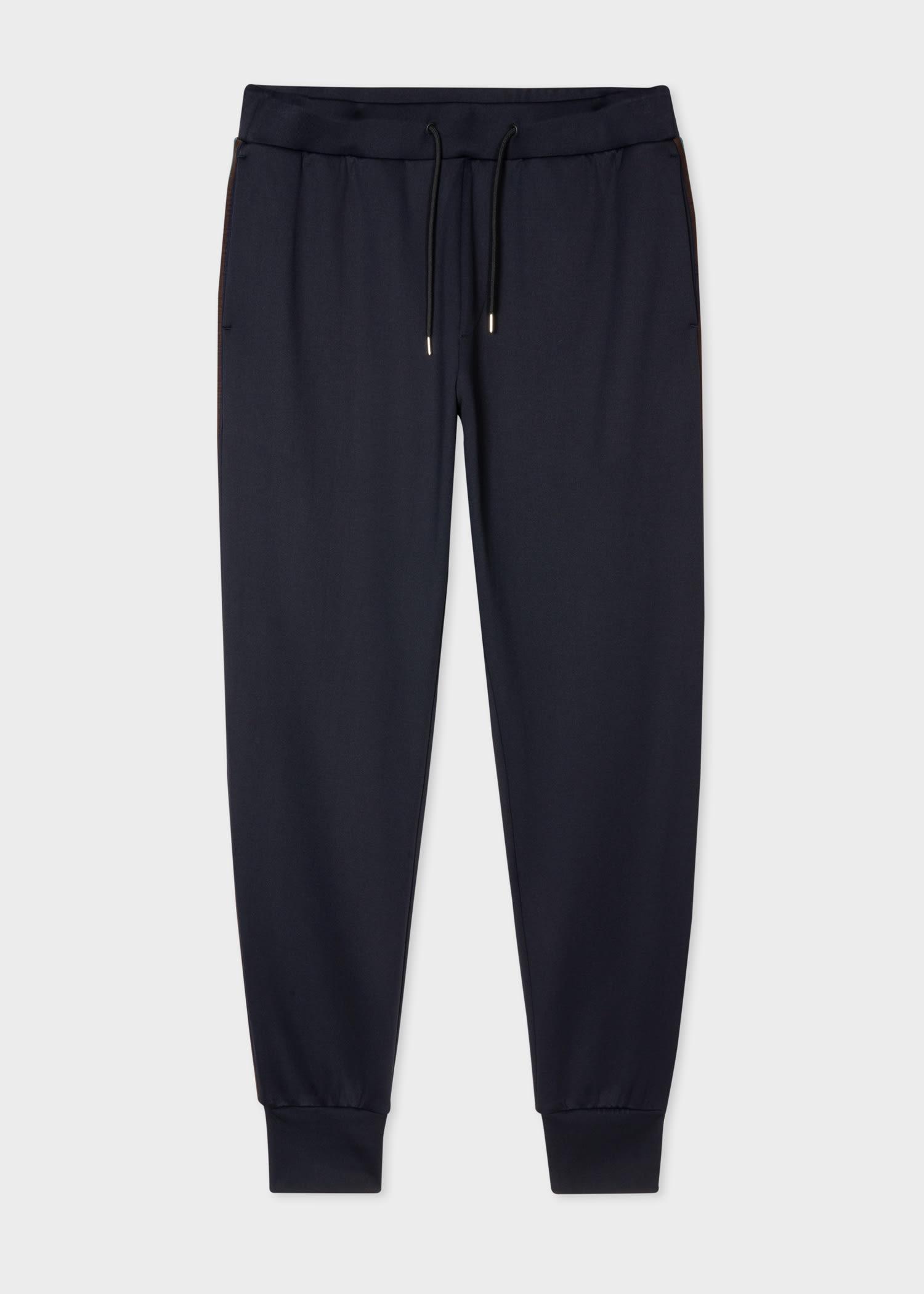 폴 스미스 스웻팬츠 Paul Smith Mens Dark Navy Artist Stripe Panel Sweatpants