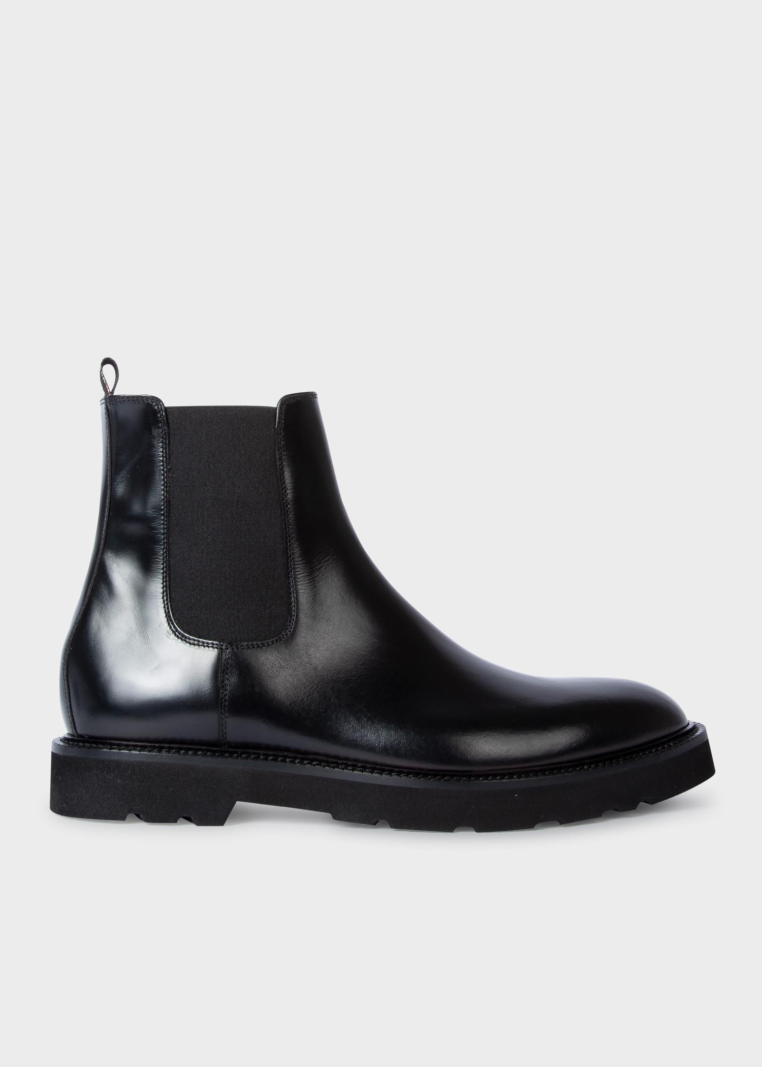 폴 스미스 부츠 Paul Smith Mens Black Leather Linton Chelsea Boots