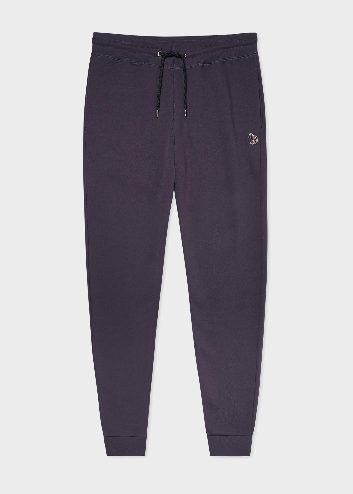 폴 스미스 스웻팬츠 Paul Smith Mens Dark Purple Zebra Logo Cotton Sweatpants
