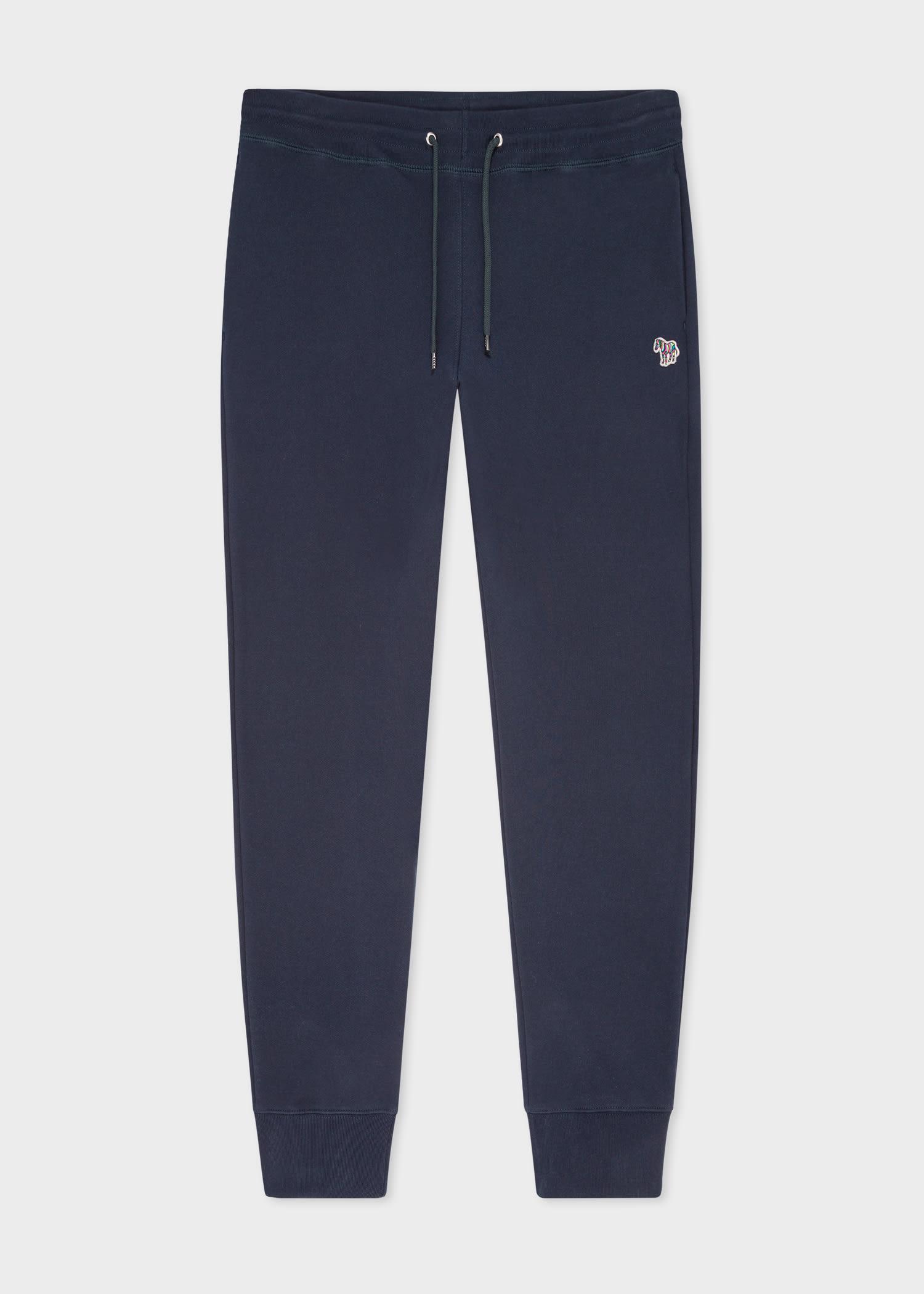 폴 스미스 스웻팬츠 Paul Smith Mens Dark Navy Zebra Logo Organic-Cotton Sweatpants
