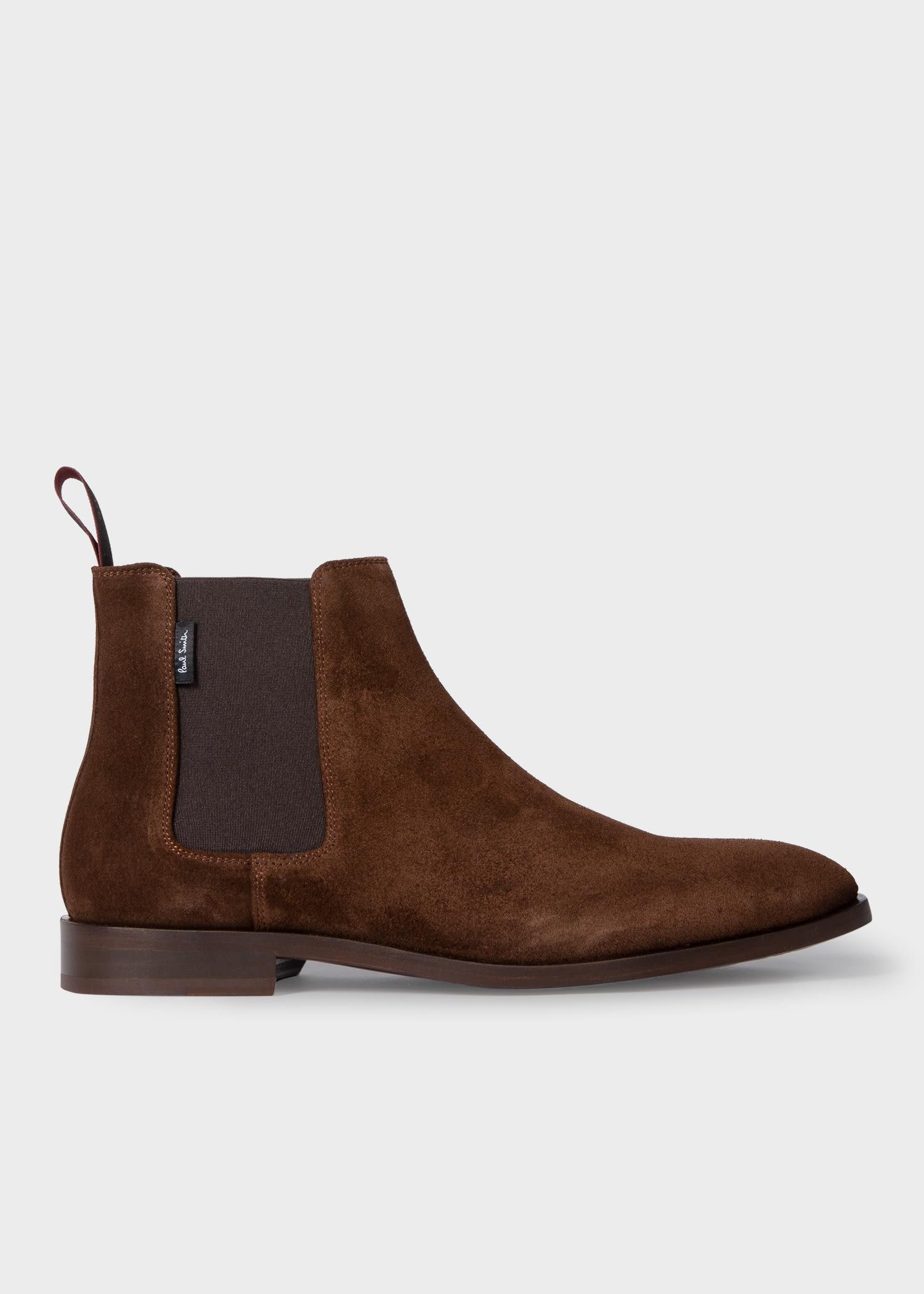 폴 스미스 부츠 Paul Smith Mens Brown Suede Gerald Boots