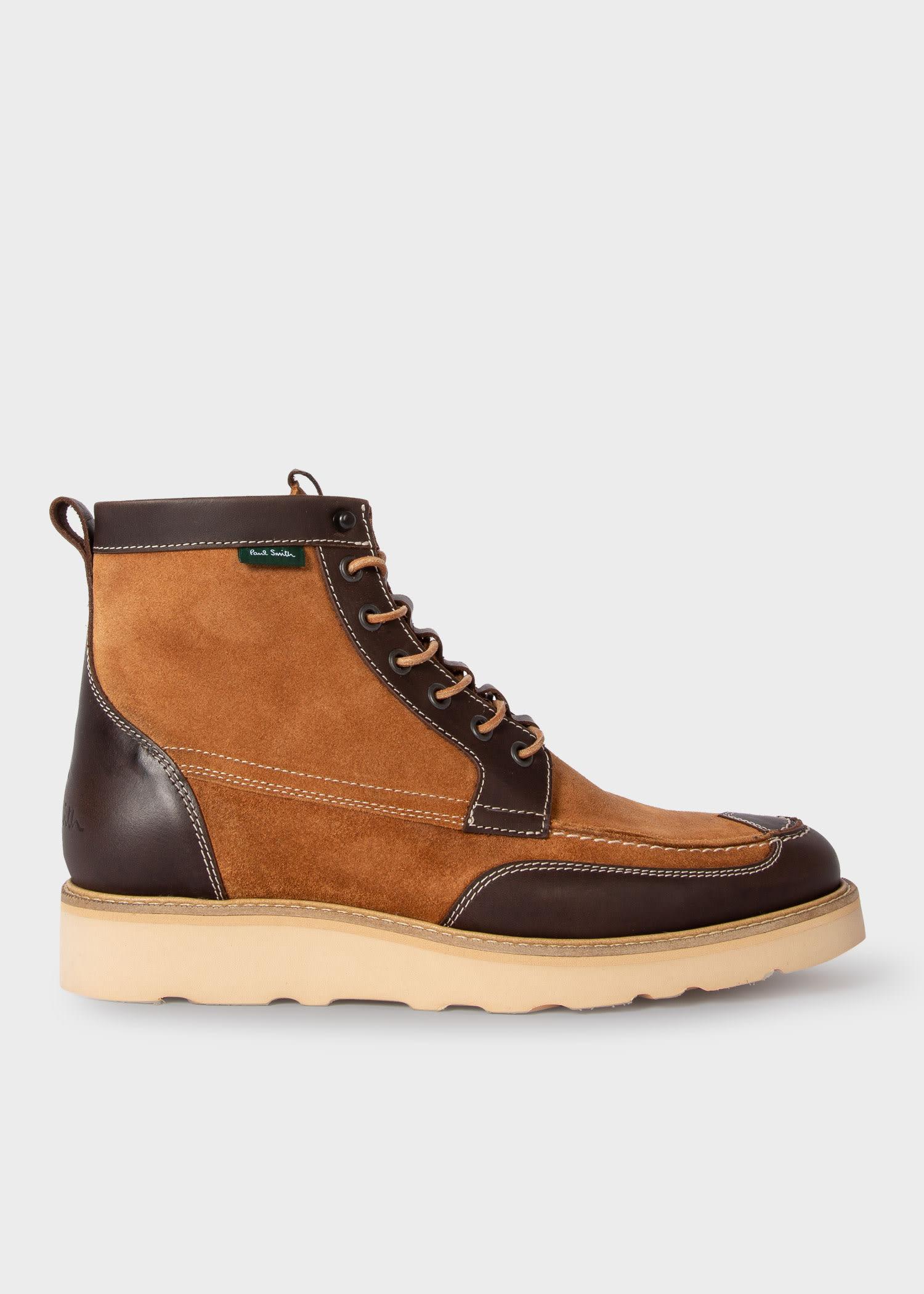 폴 스미스 부츠 Paul Smith Mens Tan Suede Tufnel Boots