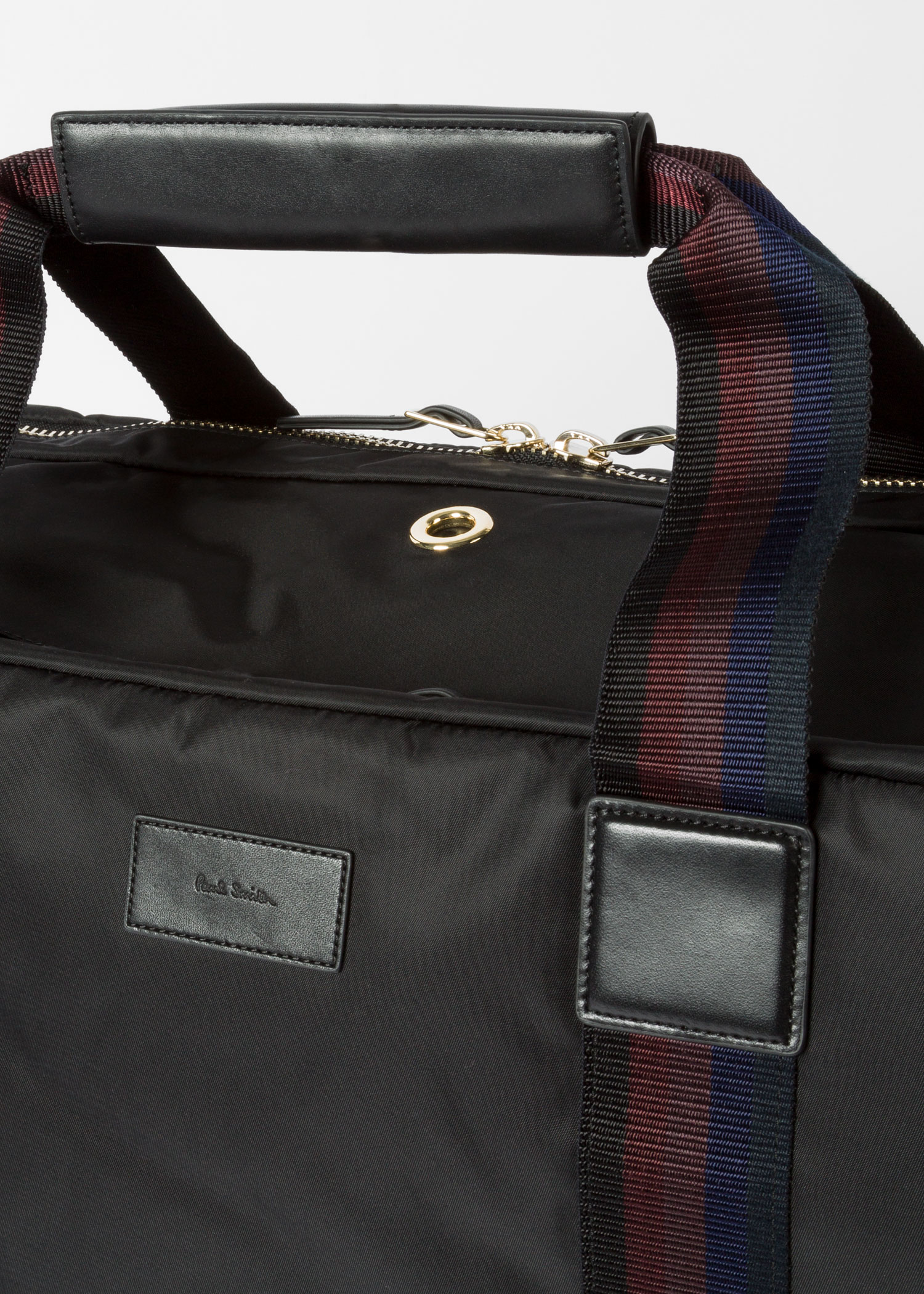 Men S Black Webbing Stripe Suit Carrier Paul Smith
