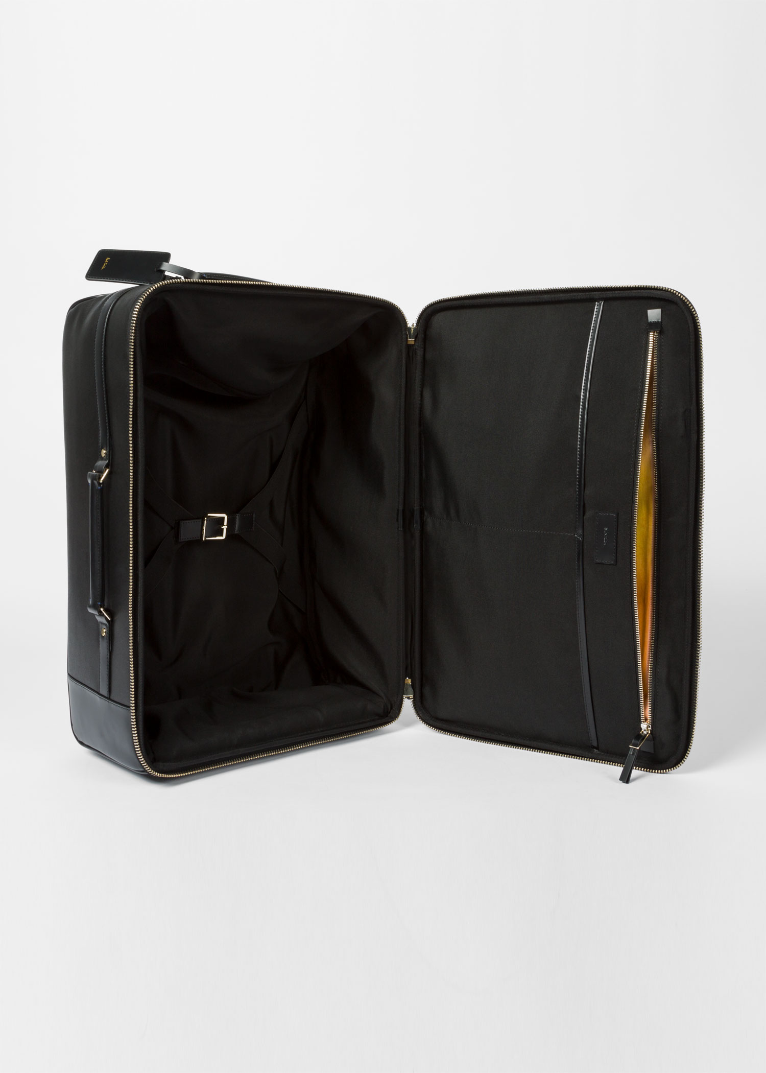 Black City Embossed Leather Suitcase Paul Smith
