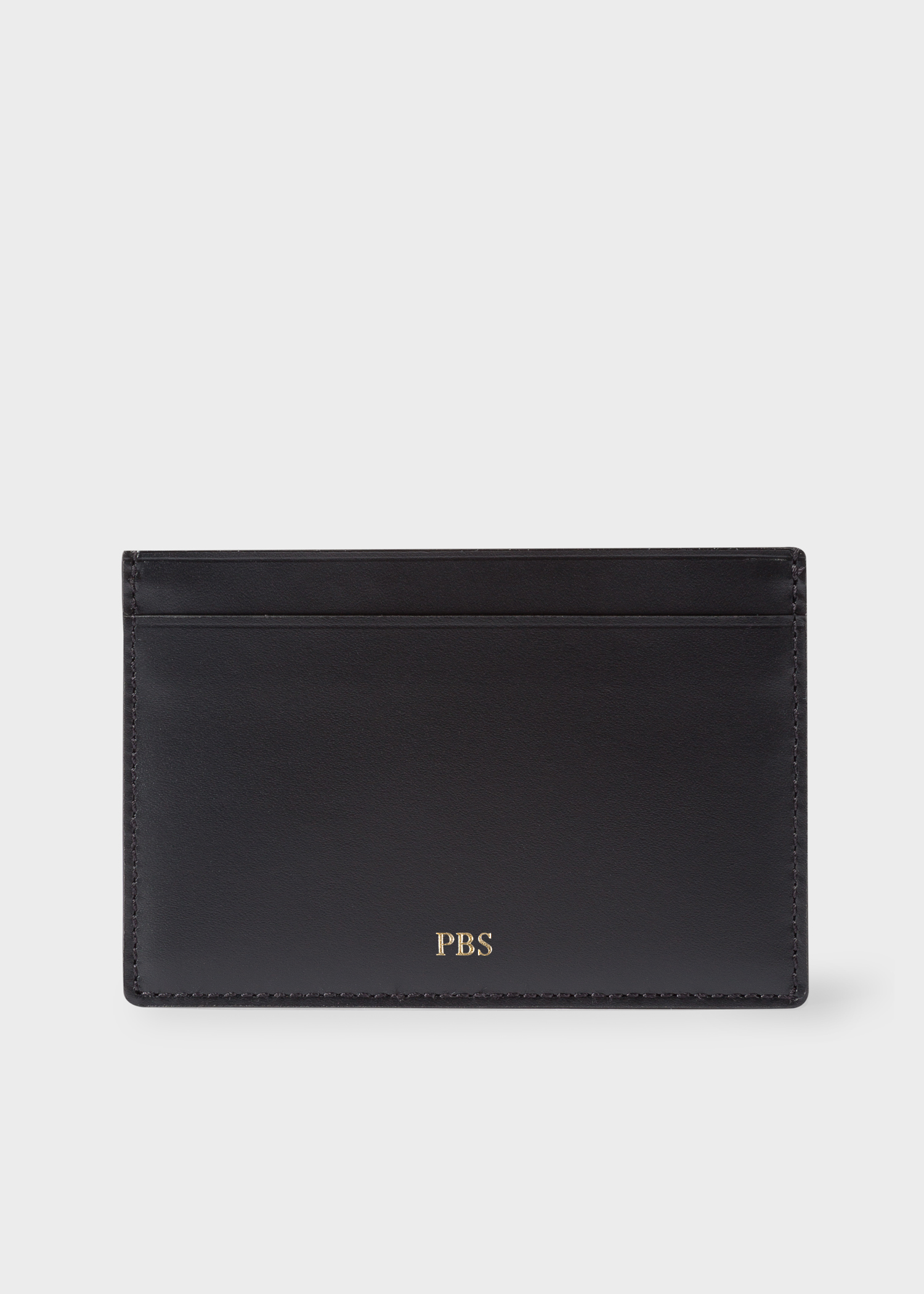 Men s Black Leather Monogrammed Credit Card Holder - Paul Smith US 2dcc5aea93ac
