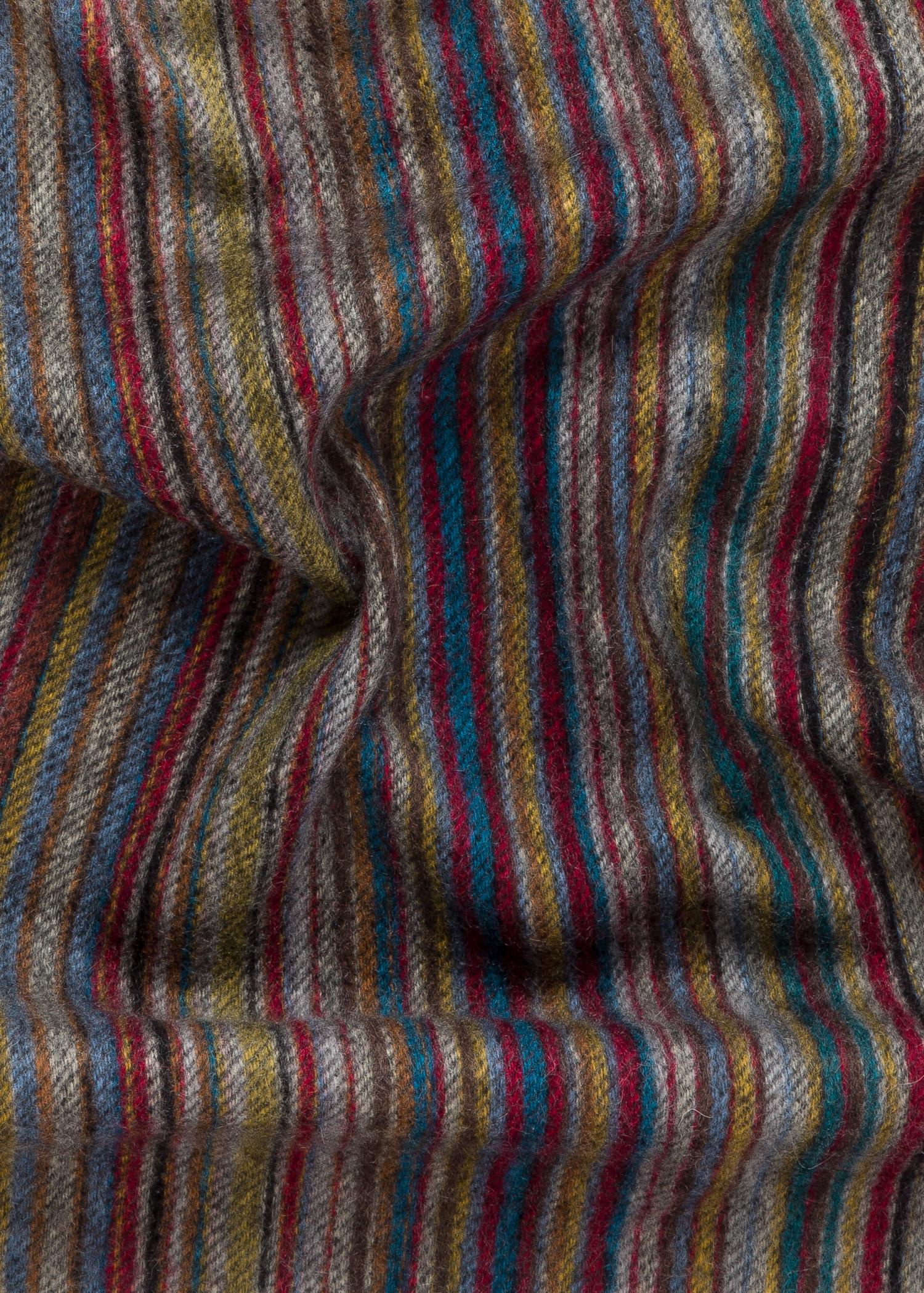 charpe homme motifs 39 signature stripe 39 en cachemire paul smith francais. Black Bedroom Furniture Sets. Home Design Ideas