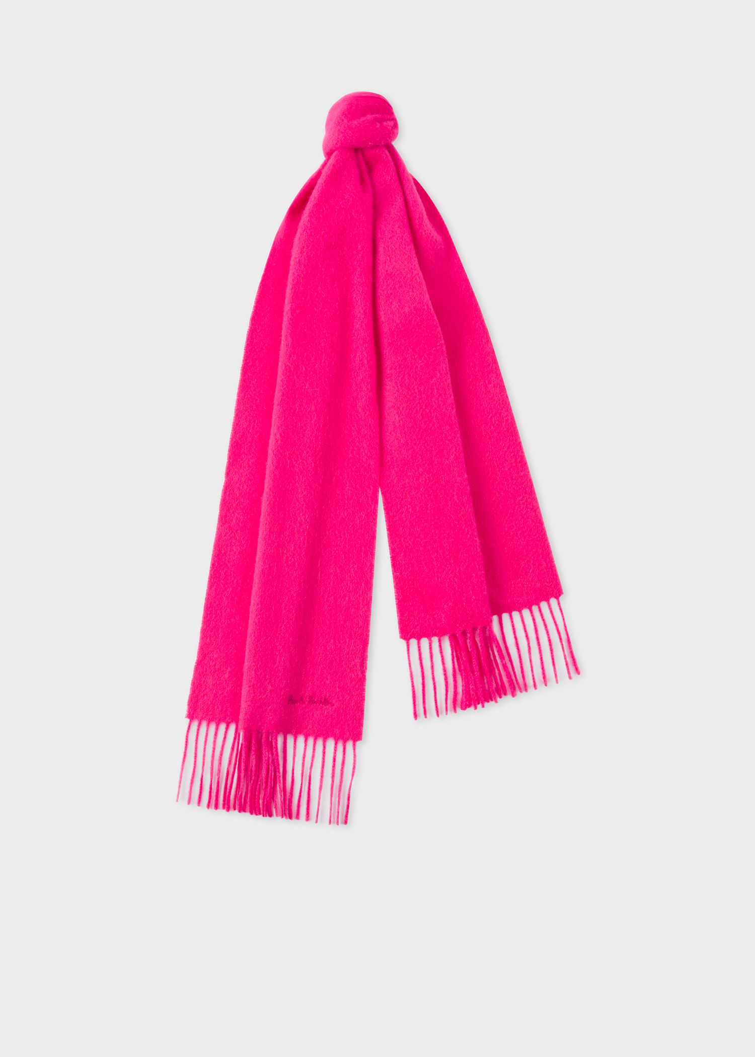 Bright Pink Cashmere Scarf Paul Smith Us