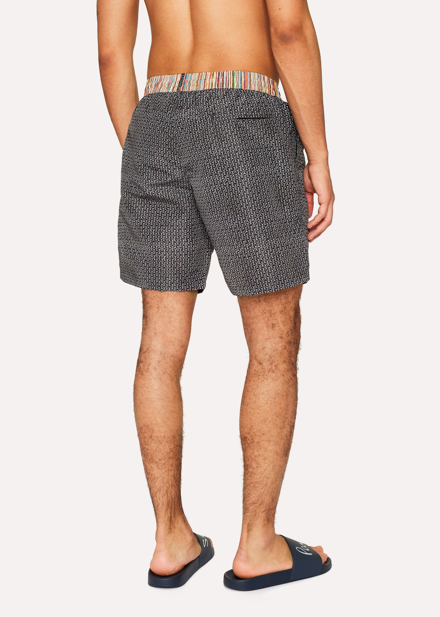 d3cc3d1866 Men's Black Geometric Print Swim Shorts by Paul Smith
