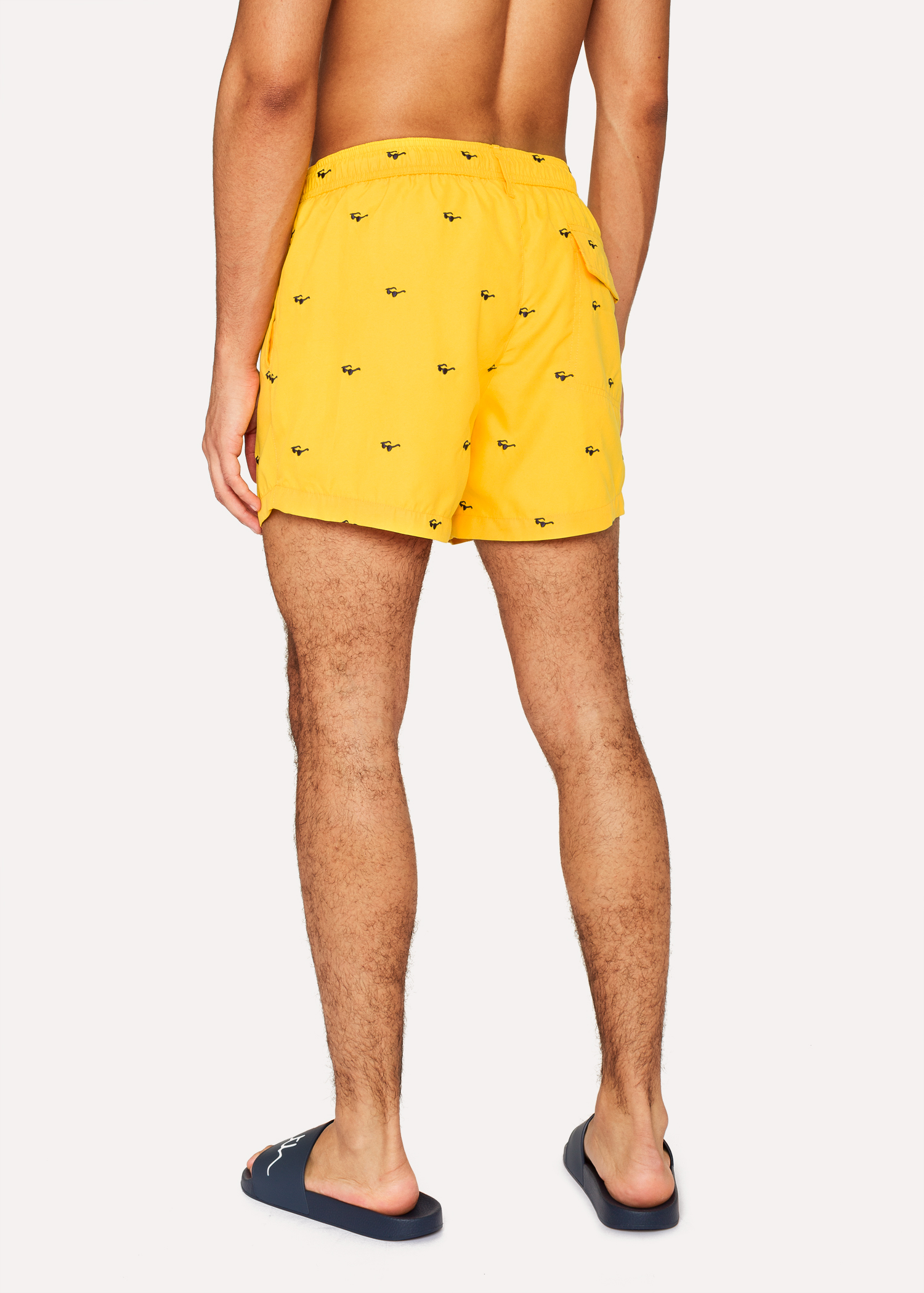 b68a4beac1 Men's Yellow Swim Shorts With 'Sunglasses' Embroidery - Paul Smith ...
