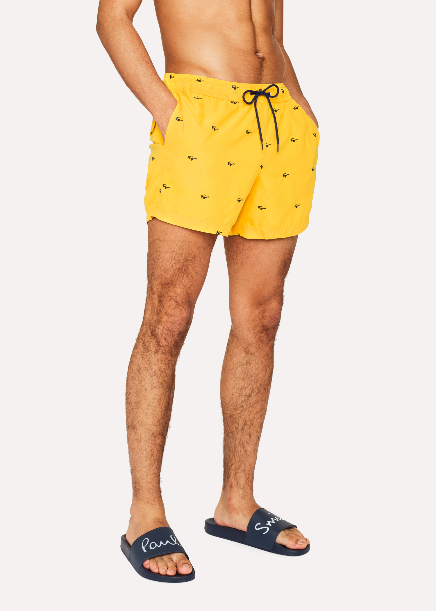9e44164505 Short De Bain Paul Smith Homme Jaune Brodé 'Sunglasses' Paul Smith ...