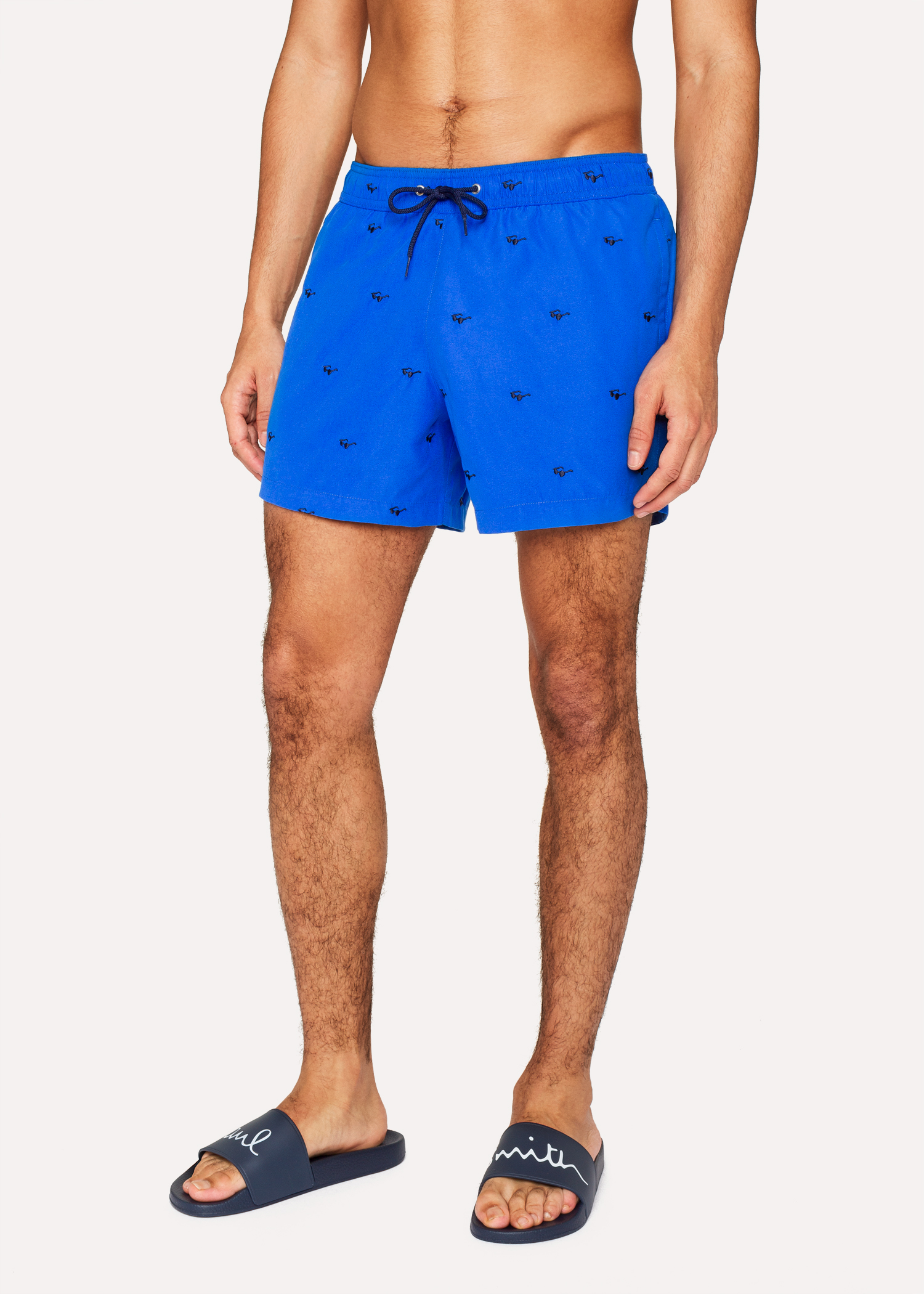 f992110ae2 Men's Blue Swim Shorts With 'Sunglasses' Embroidery - Paul Smith