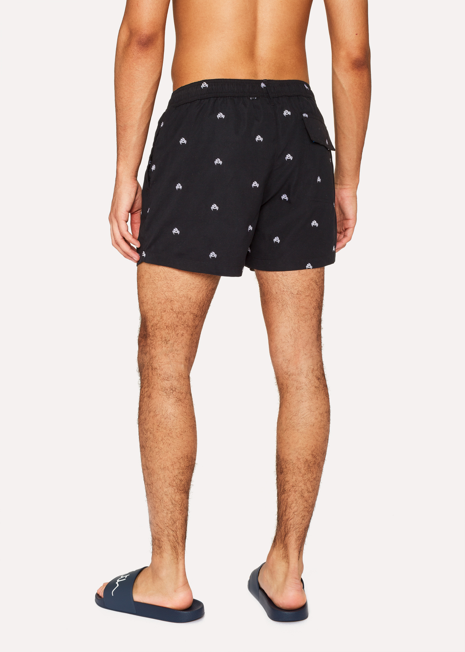 ae2d101c93 Men's Black Swim Shorts With 'Crab' Embroidery by Paul Smith