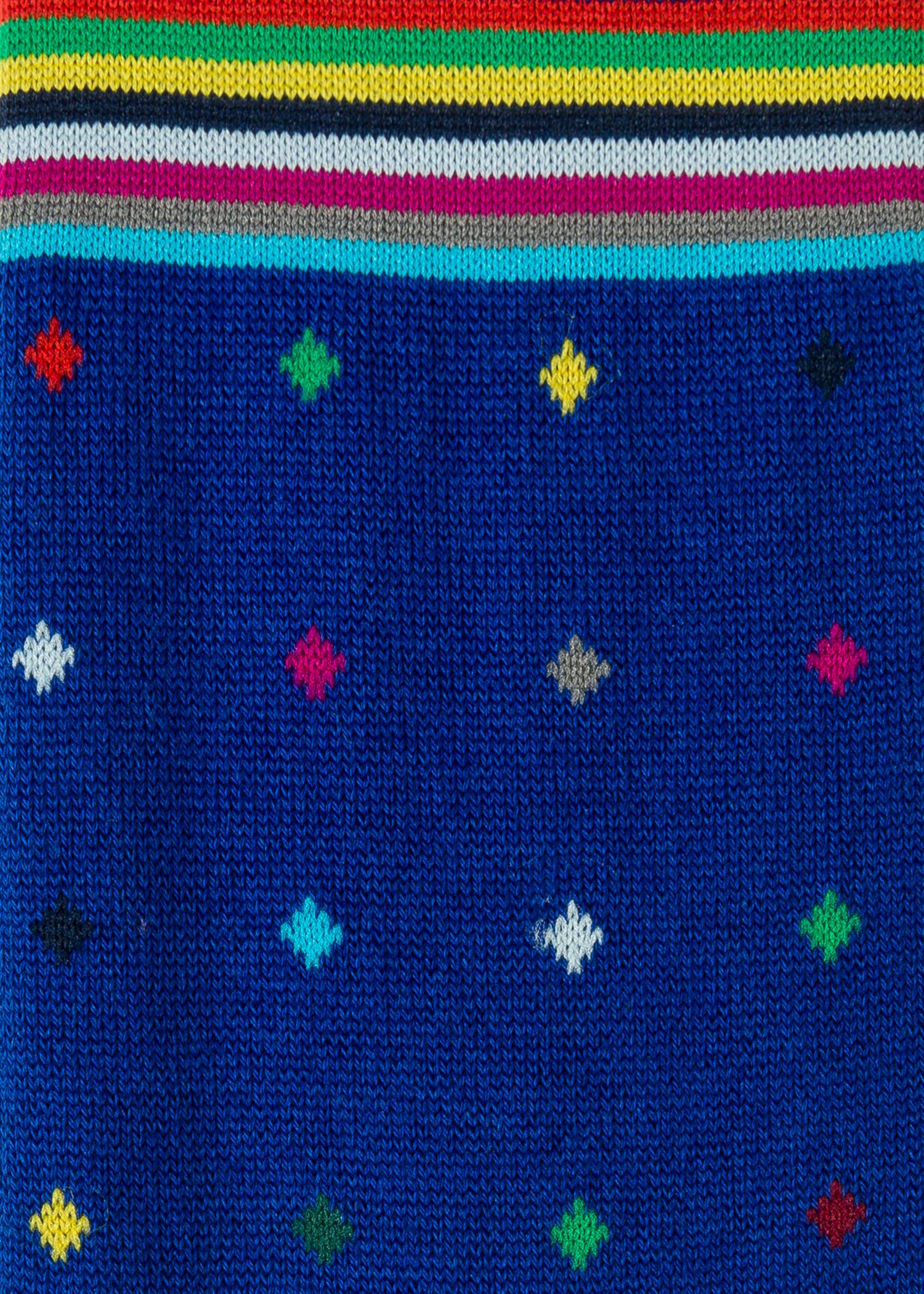 386df6079 Men's Cobalt Blue Diamond Dot Socks