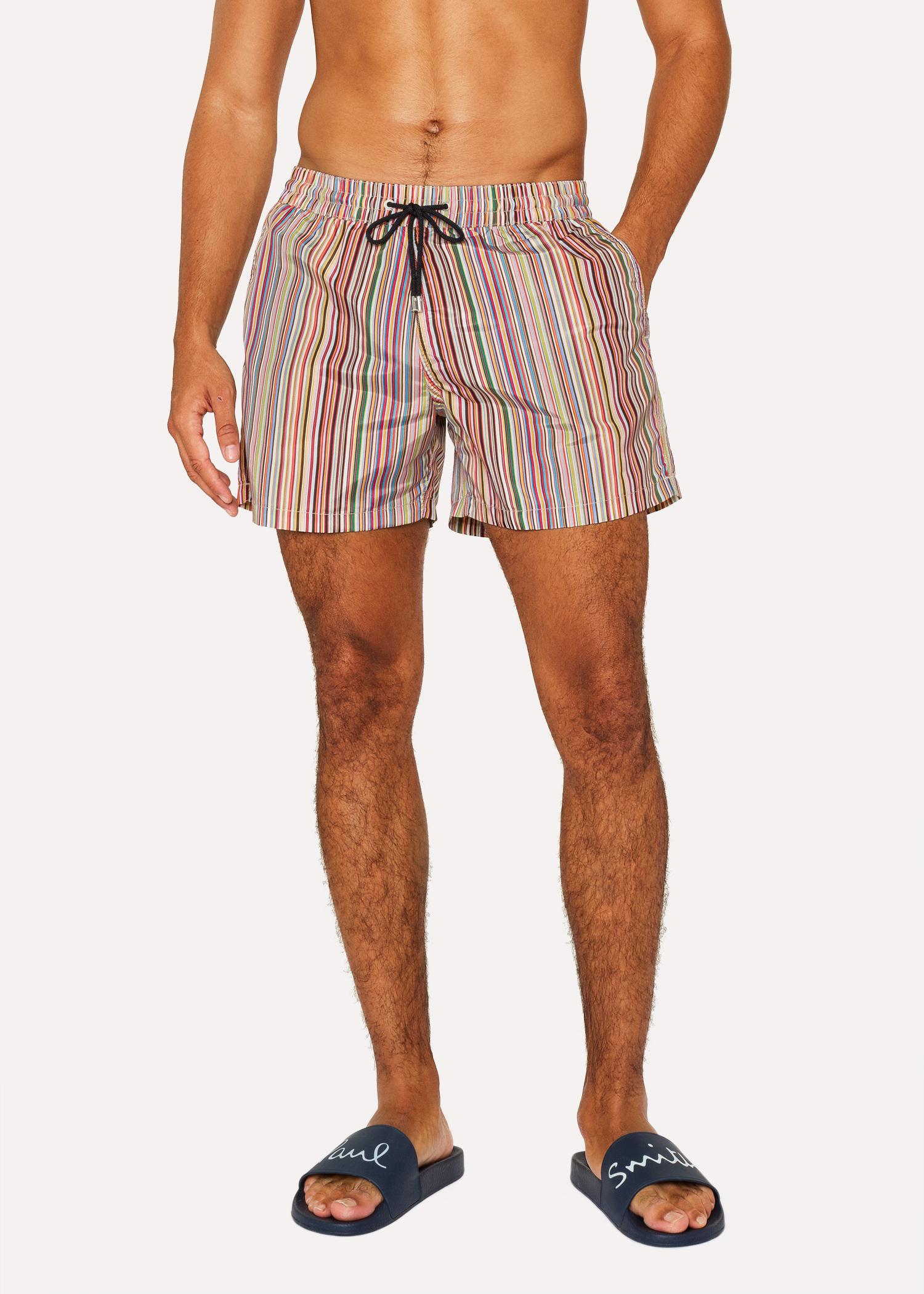 2a95d06dae77 Men's 'Signature Stripe' Print Swim Shorts