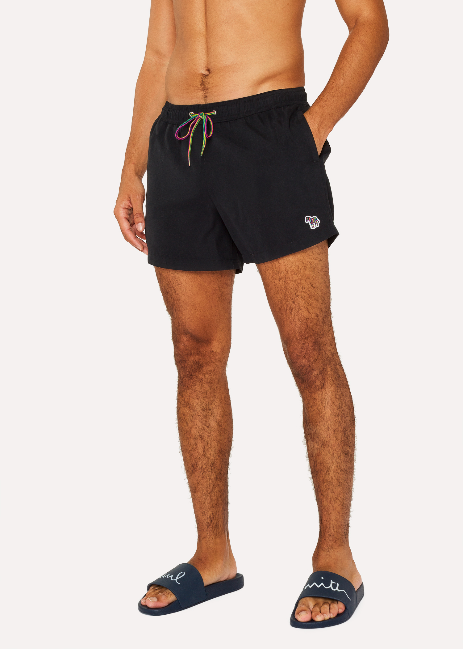 62584f9744 Men's Black Zebra Logo Swim Shorts by Paul Smith