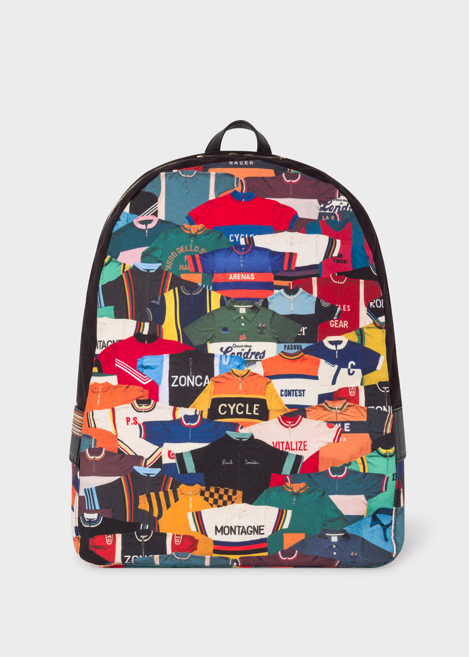c56223479c1e Men s Canvas  Cycling Jersey  Print Backpack - Paul Smith Asia