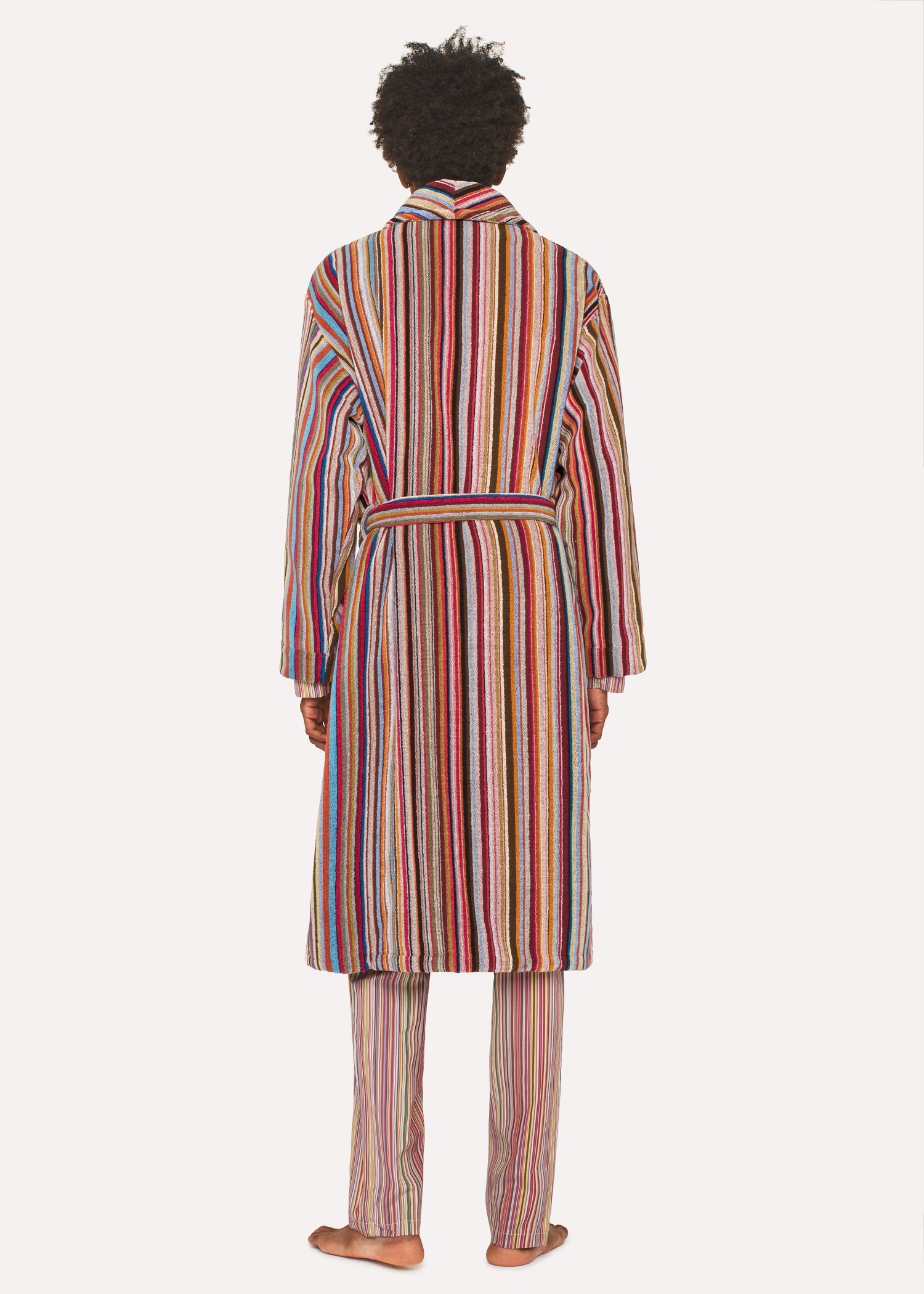 a74f4f9efe12 Men s Signature Striped Towelling Dressing Gown by Paul Smith