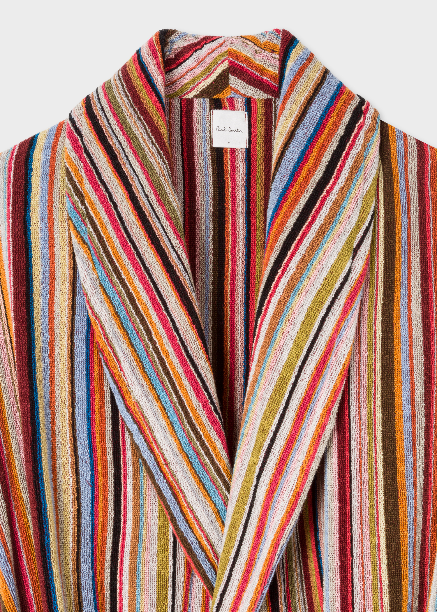 Men S Signature Striped Towelling Dressing Gown Paul