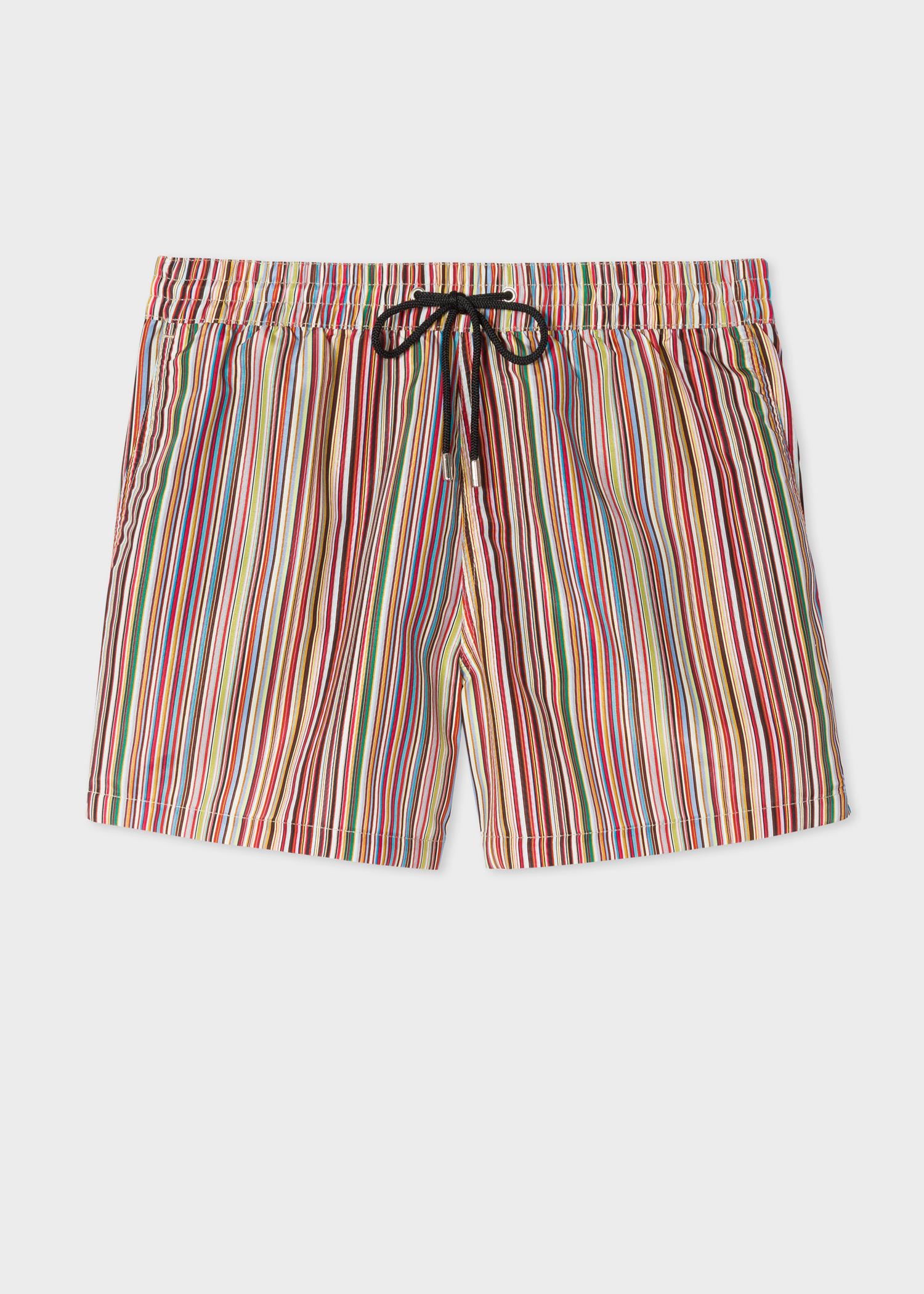 e46a6b124b Men's 'Signature Stripe' print swim shorts by Paul Smith