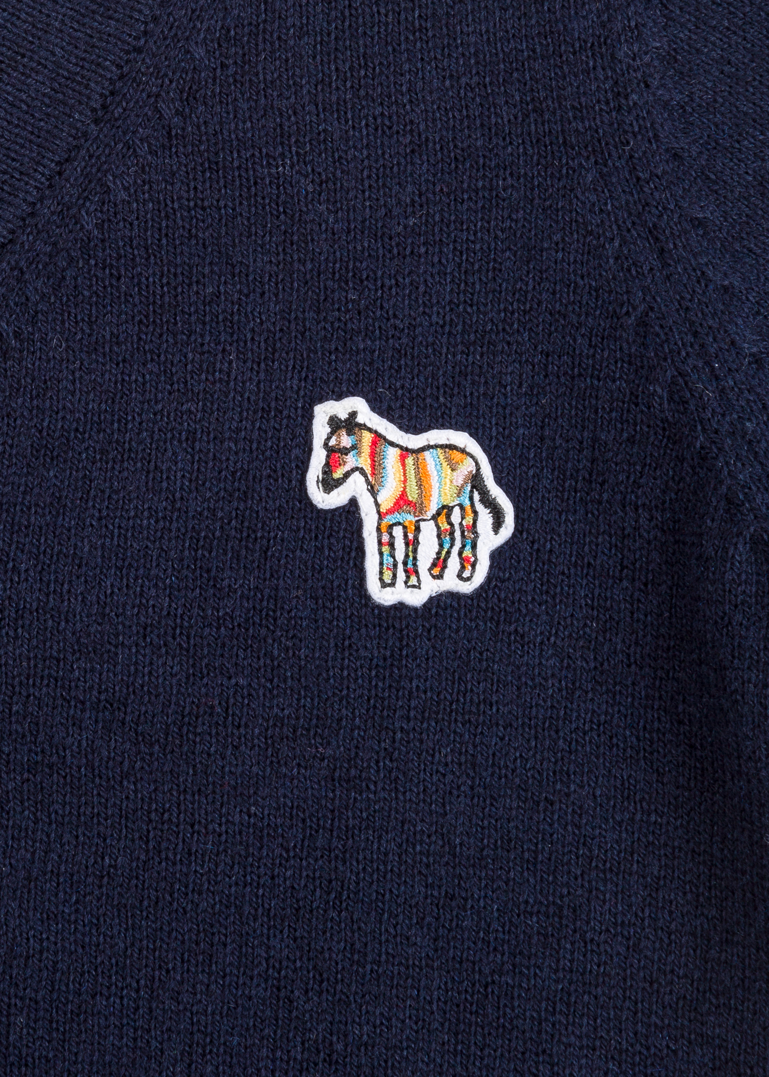 c7cd3c484289 Detailed View - Baby Boys  Navy  Zebra  Logo Cotton-Cashmere Cardigan Paul