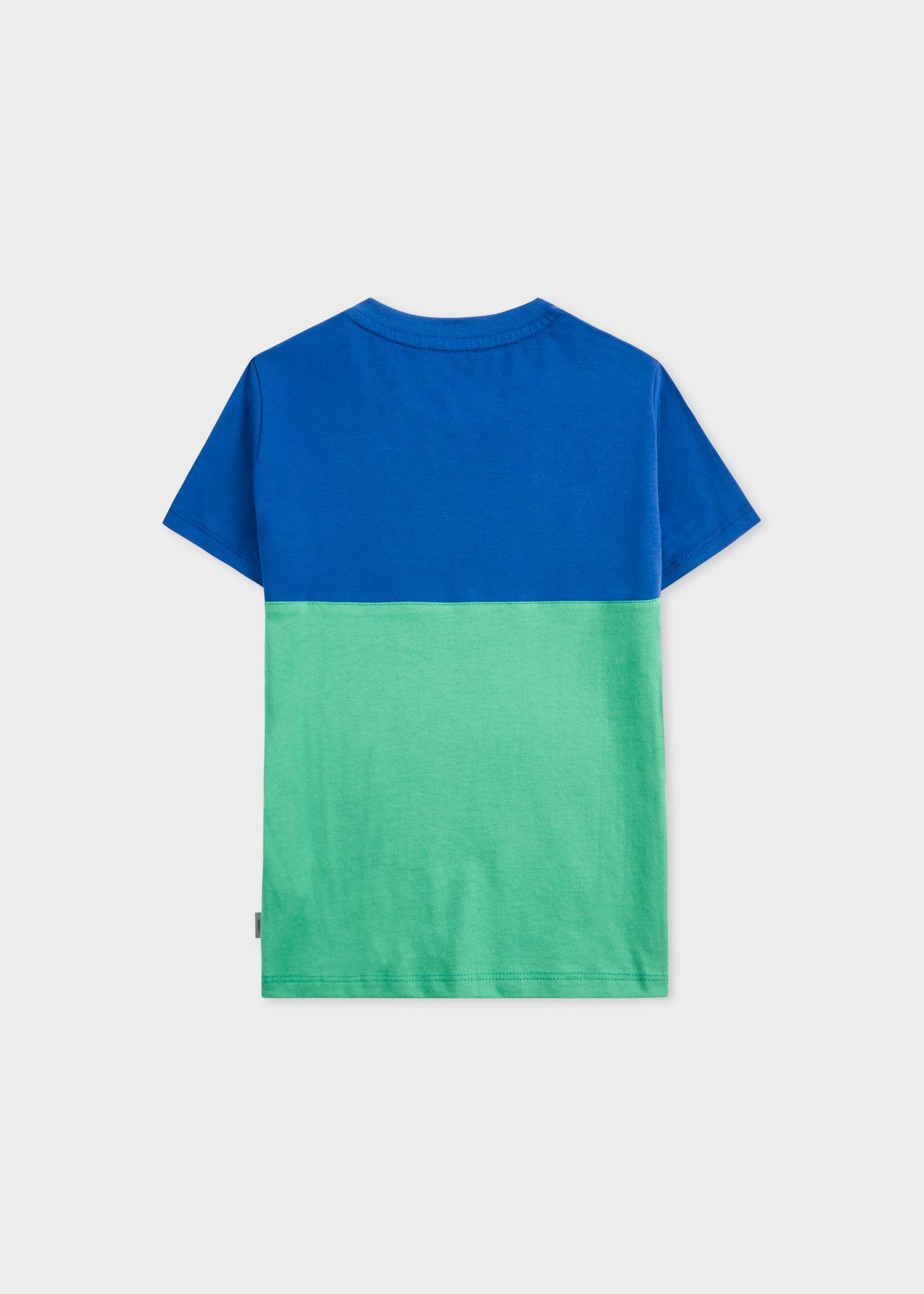 5b70be04 Boys' 2-16 Years Indigo and Green 'Neon Zebra' Print T-Shirt - Paul ...